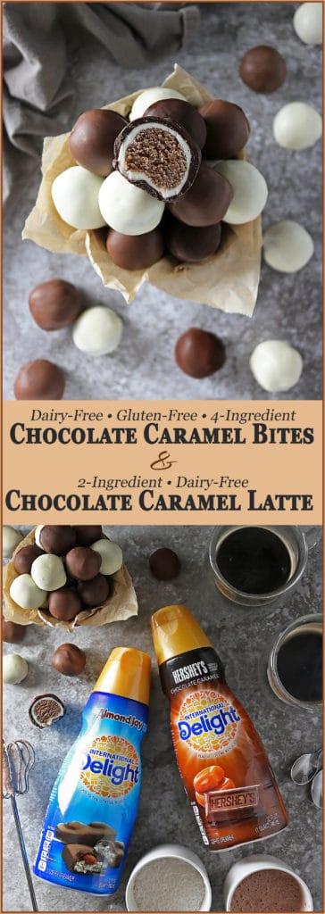 Chocolate Caramel Bites And Chocolate Caramel Latte #ad #DelightfulMoments #SplashOfDelight @indelight