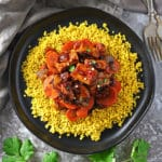 Easy Sweet Spicy Pork Carrots And Turmeric-Millet