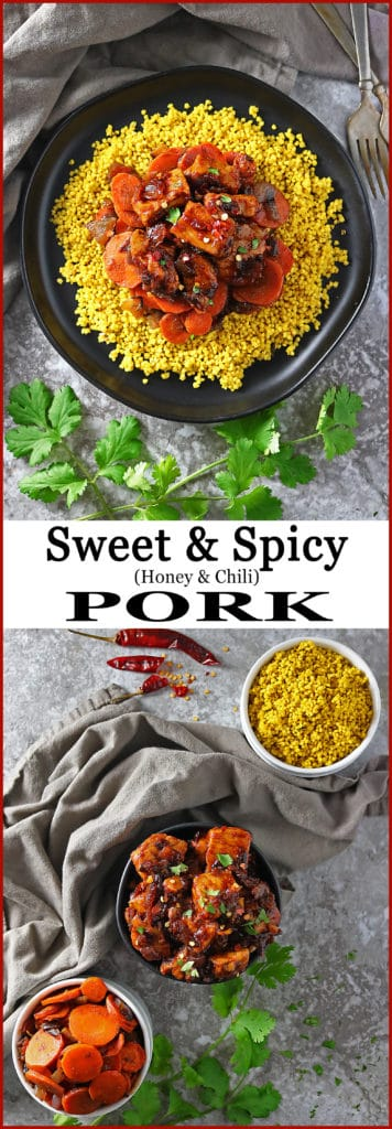 Easy Sweet Spicy Smithfield Pork, Spicy Sweet Carrots, And Turmeric-Millet #ad #AllNaturalPork @SmithfieldBrand