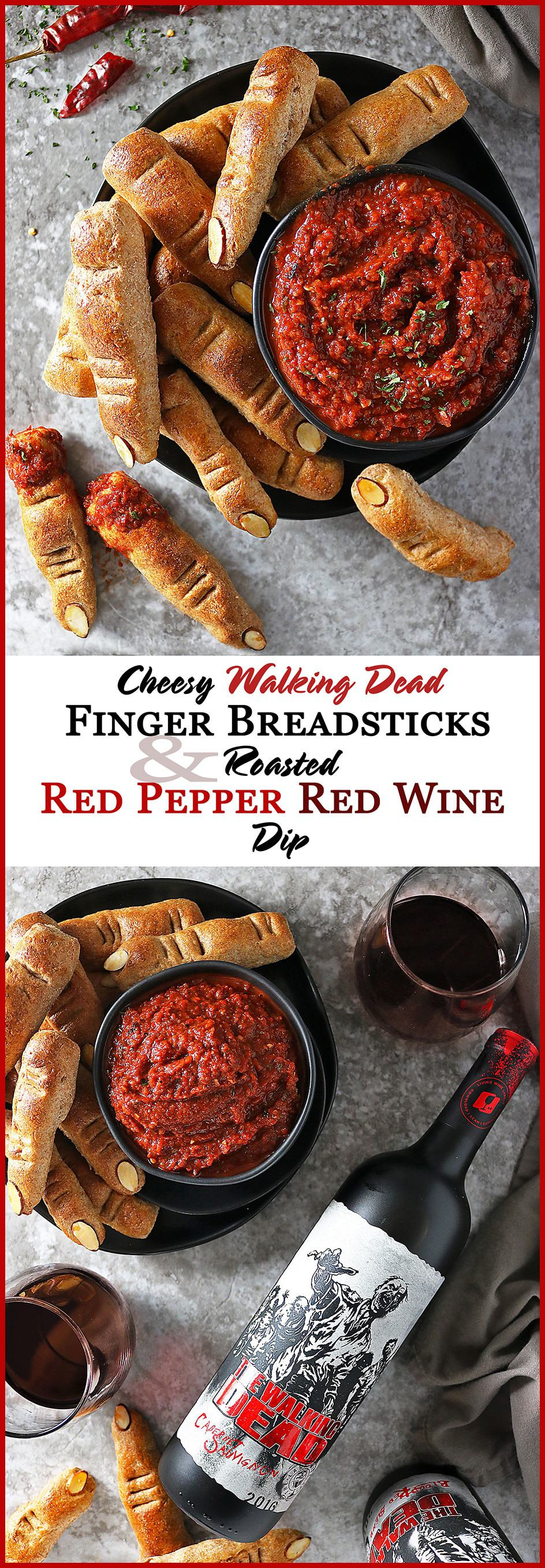 Cheesy Whole Wheat Finger Breadsticks And Roasted Red Pepper Red Wine Dip #ad #UncorkTheStory