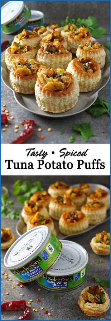 Tuna Potato Puffs Appetizers #ad @wildselections #WildSelections #SelectSustainable https://www.pinterest.com/wildselections/
