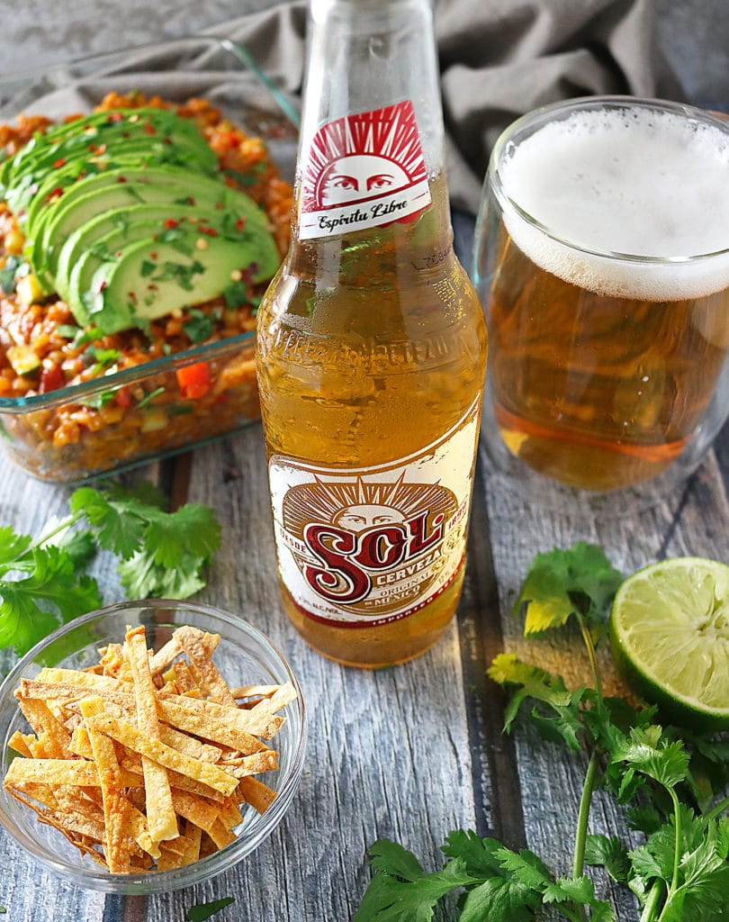 Veggie Enchilada Risotto With Sol Beer #CelebratorySips #CelebrateWithSol