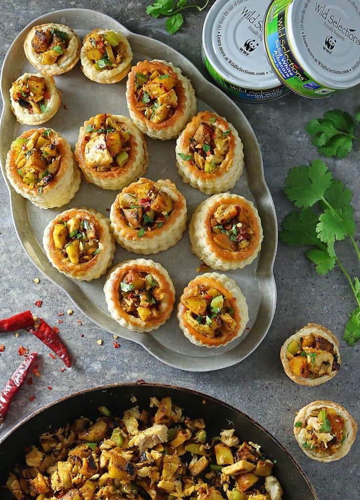 Wild Selections Tuna Potato Saute in Puff Pastry Baskets