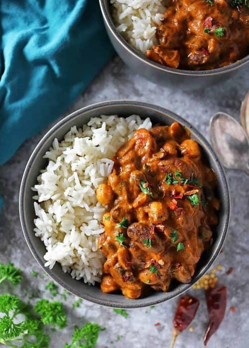 Easy Three Bean Curry (Vegan)