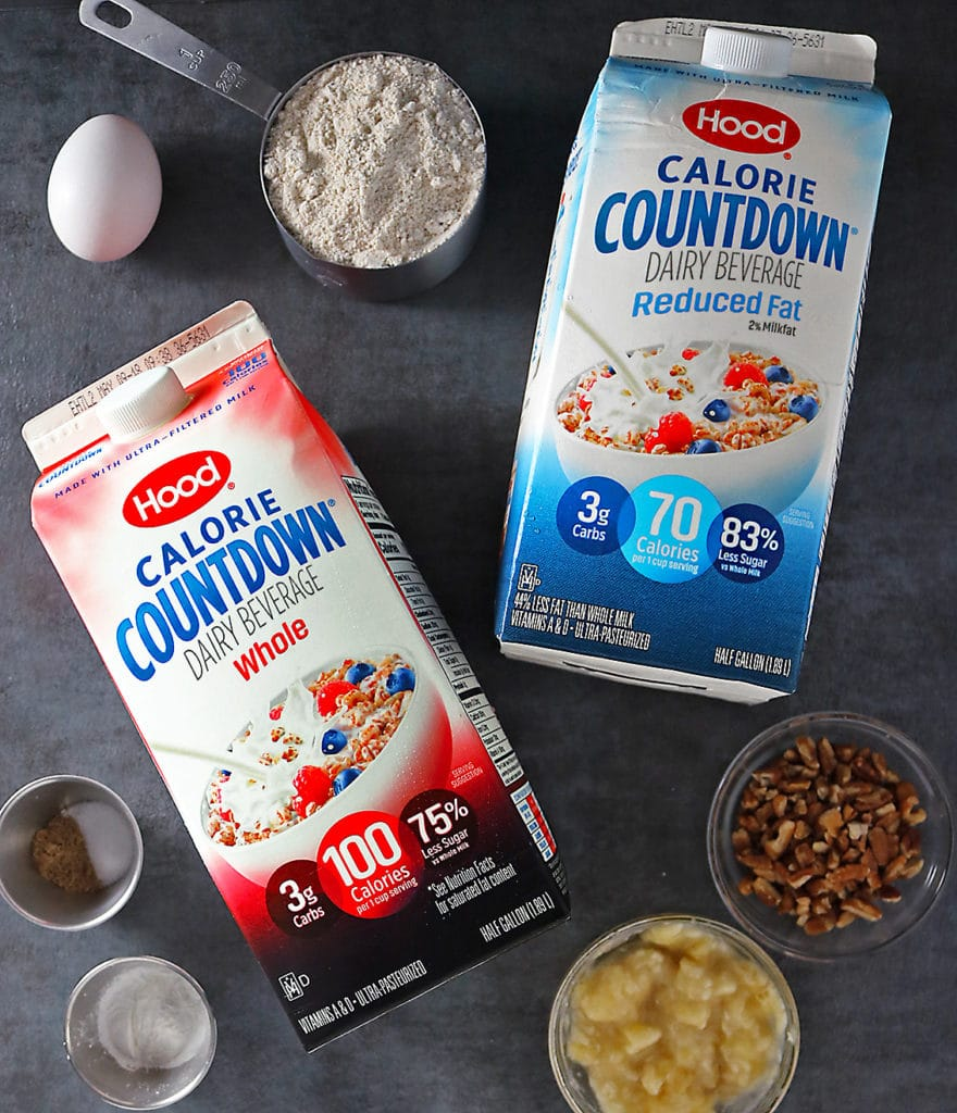 Hood Calorie Countdown and other Ingredients For Making Banana Pecan Pancakes