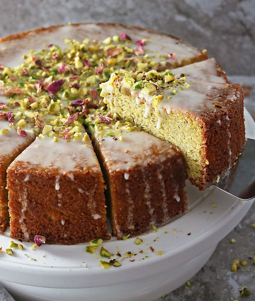 Picking Up A Slice of Ottolenghi's Pistachio Rose Cake