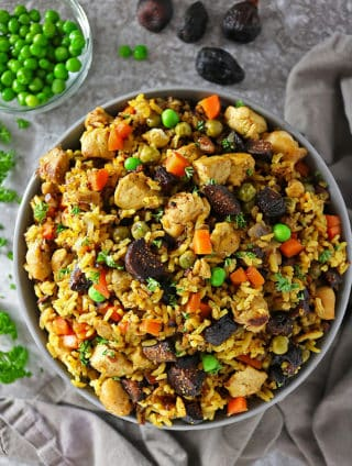 Chicken Biryani with Figs and Nuts