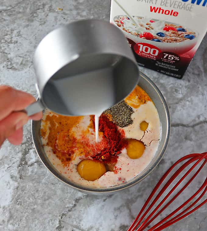 Making sauce for Spinach Mushroom bake