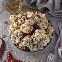 Roasted Cauliflower with Sesame