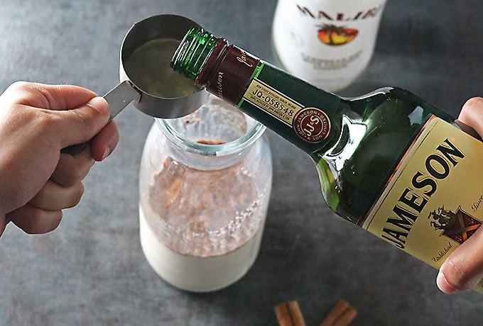 photo of the Making of Rum Whisky Milk Cocktail