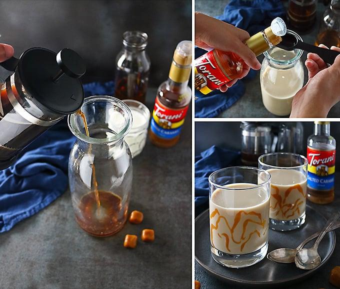 Making Salted Caramel Bourbon Lattes