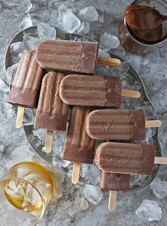 Boozy Nutella Popsicles only need three ingredients. How's that for a spectacular adult treat?