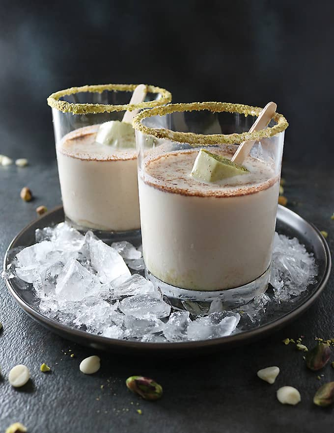 Photo of Pistachio White Chocolate Rum Popsicles In Rum Whisky Tigers Milk