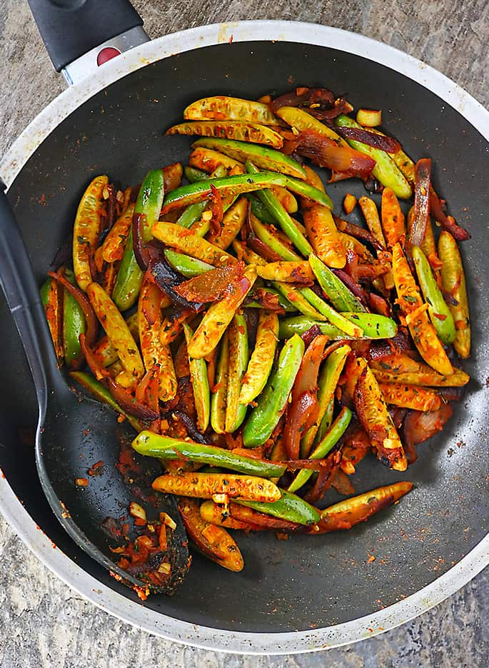Spicy Ginger Garlic Tindora Stir Fry