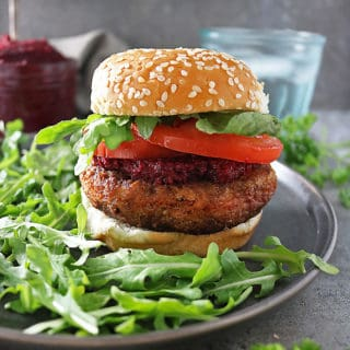 The meaty, plant based, Beyond Burger