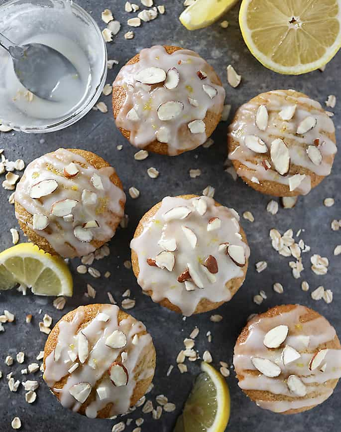Six Blender Made Lemon Muffins