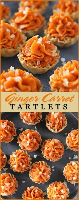Pin of Easy Delicious Ginger Carrot Tartlets