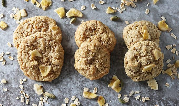 Photo of Gluten Free Banana Oat Cardamom Cookies 3 Ways