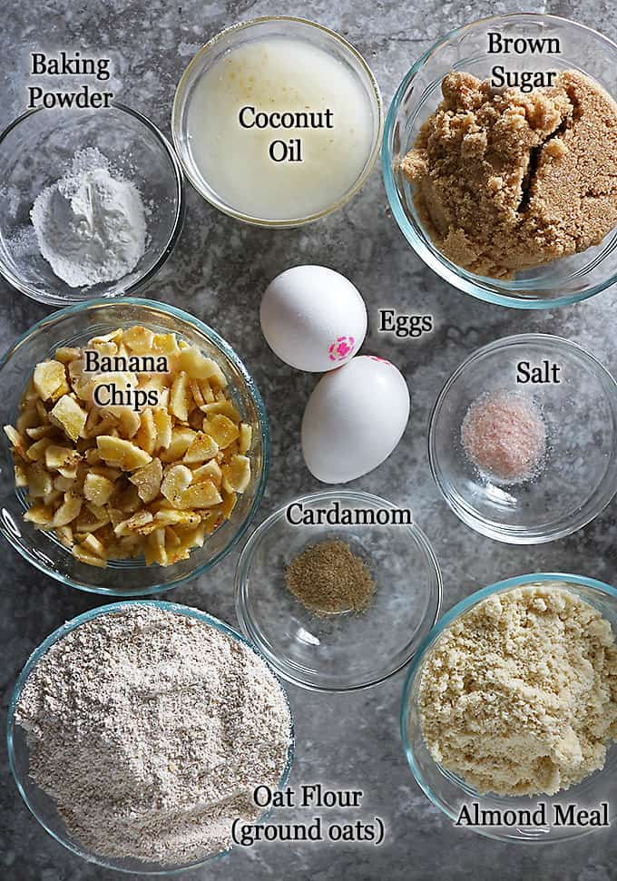 Photo of Ingredients to make Oatmeal Banana Chip Cookies