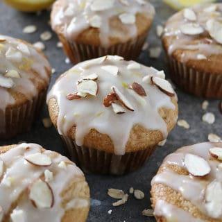 Lemon glazed luscious lemon muffins