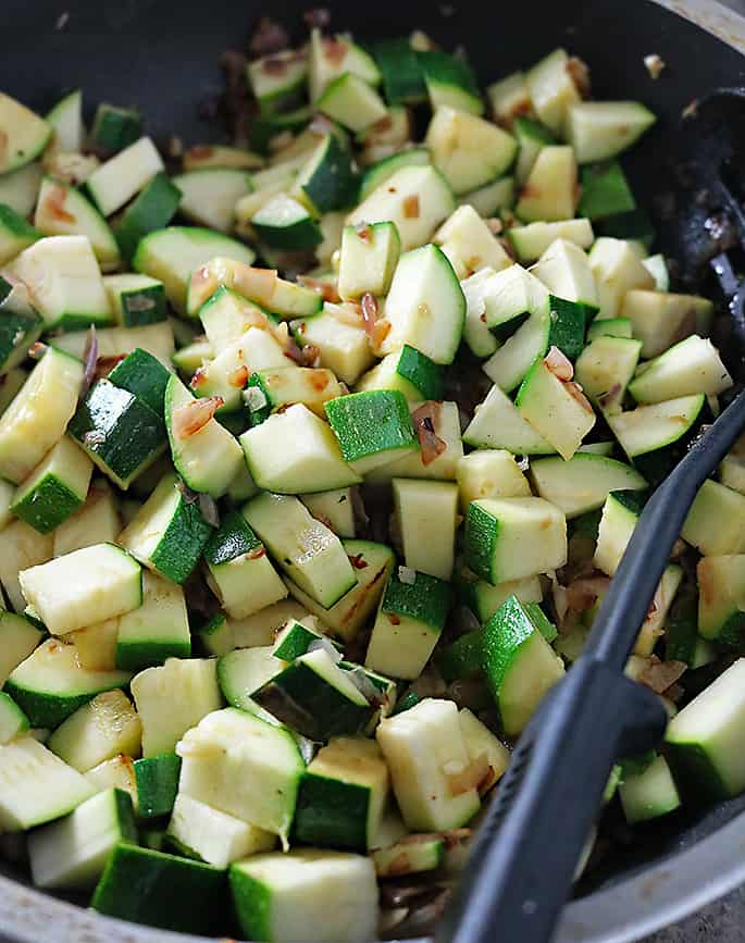 Sauteing Zucchini Photo