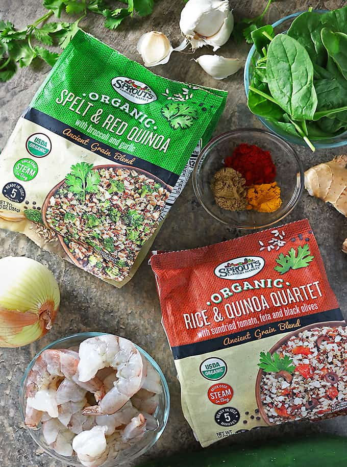 two of the Four flavors of Sprouts Organic Ancient Grains