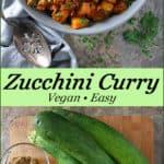 Vegan & easy zucchini curry - Pinterest Image