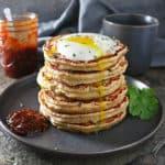 Photo of 6 Ingredient Oat Potato Pancakes Stack