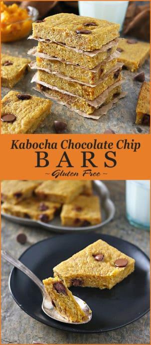 Delicious Kabocha Chocolate Chip Bars Pinterest Image