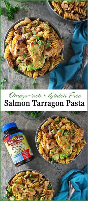 Delicious, Omega Rich, 30-Minute, Salmon Tarragon Pasta Photo