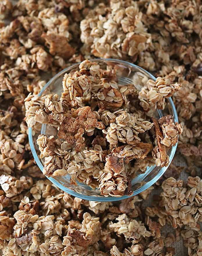 Easy Chunky Delicious Apple Walnut Granola Photo