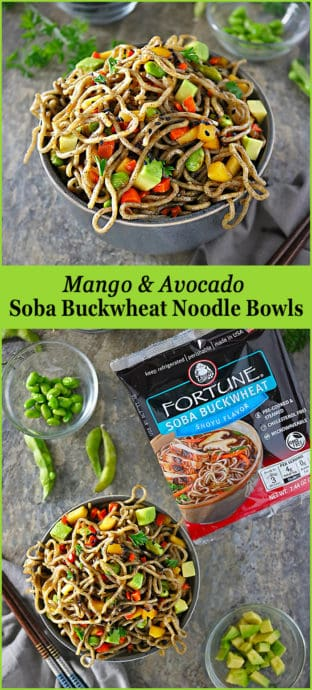#ad Easy And Delicious Mango Avocado Soba Buckwheat Noodle Bowls Image #Fortune #ChefYaki