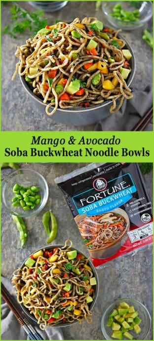 #ad Easy And Delicious Mango Avocado Soba Buckwheat Noodle Bowls Image #Fortune #ChefYaki