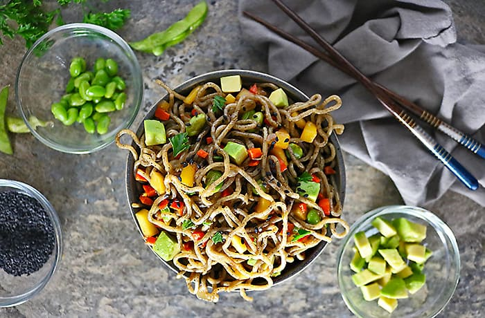 Photo of Easy Mango Avocado Soba Buckwheat Noodles