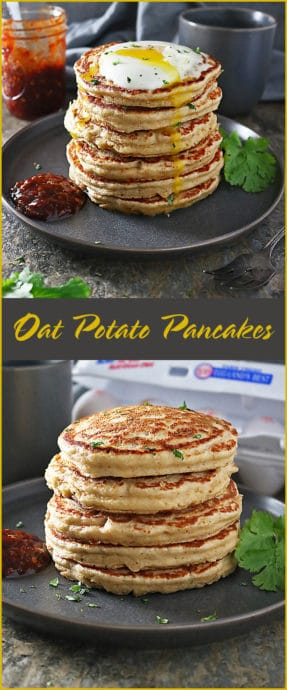 Easy Oat Potato Pancakes Stack Pinterest
