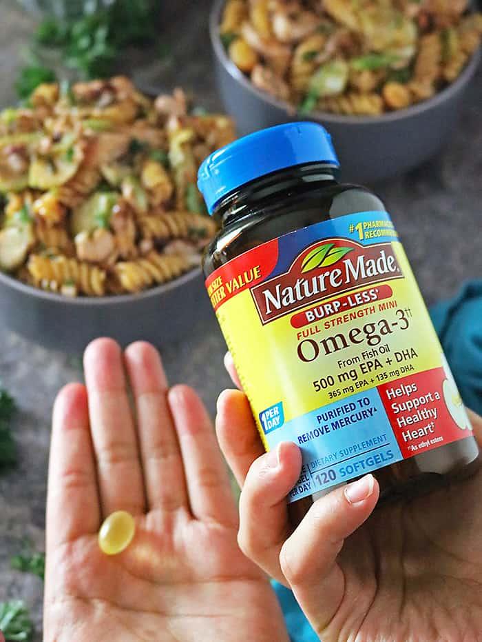 Nature Made® Omega-3 500mg EPA+DHA, Burpless supplement photo