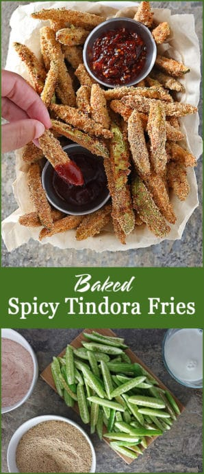 Oven Baked Delicious Spicy Tindora Fries Photo