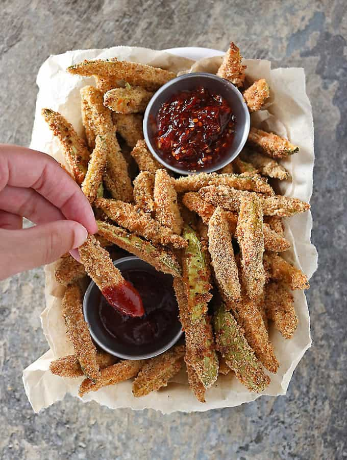 Oven Baked Spicy tindora fries photo