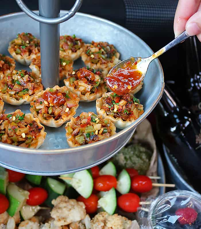 Photo of Potato Hatch Chili Phyllo Shells With Pumpkin Chili Sauce