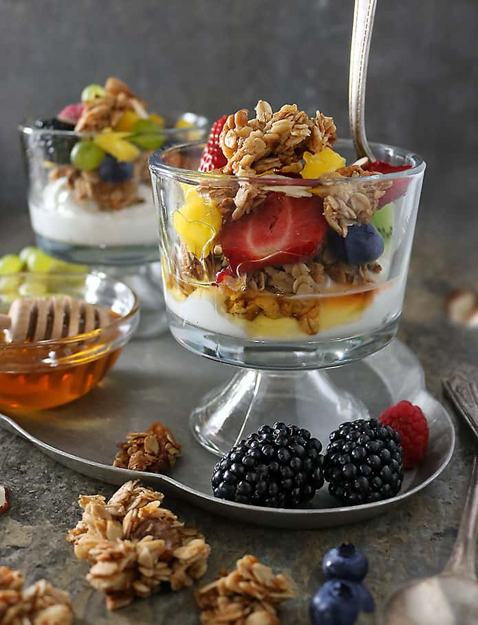 Simple Easy Crunchy Apple Walnut Granola Yogurt Trifle Photo