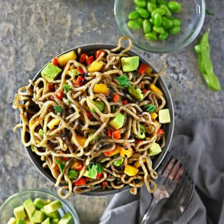 Photo of Tasty Mango Avocado Soba Buckwheat Noodles