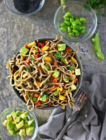 Photo of Tasty Mango Avocado Soba Buckwheat Noodles
