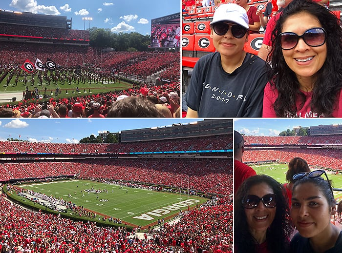 Collage of University Of Georgia Bulldawgs Season Opener