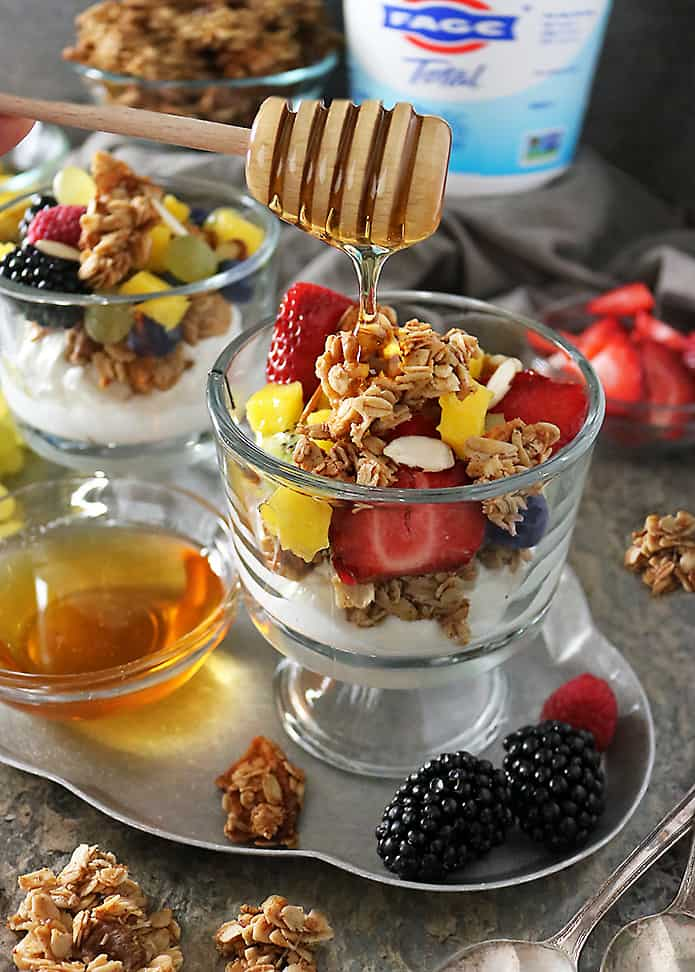Photo of Yogurt Apple Walnut Granola Fruit Cups