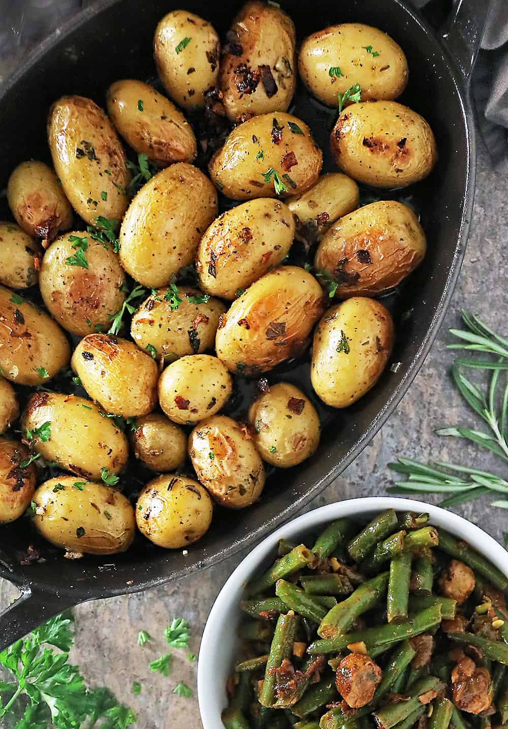 Image of Cast Iron baked melt in your mouth potatoes
