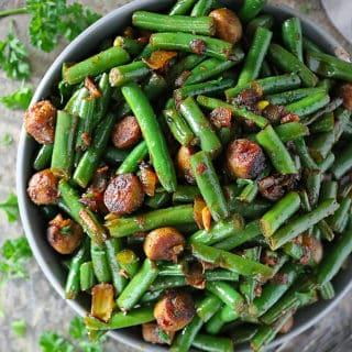 Garlic Sausage And Beans Photo
