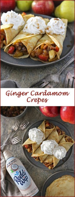 Ginger Cardamom Crepes with Apple Pear-Filling And Non Dairy Reddi wip #ReddiForNonDairy photo