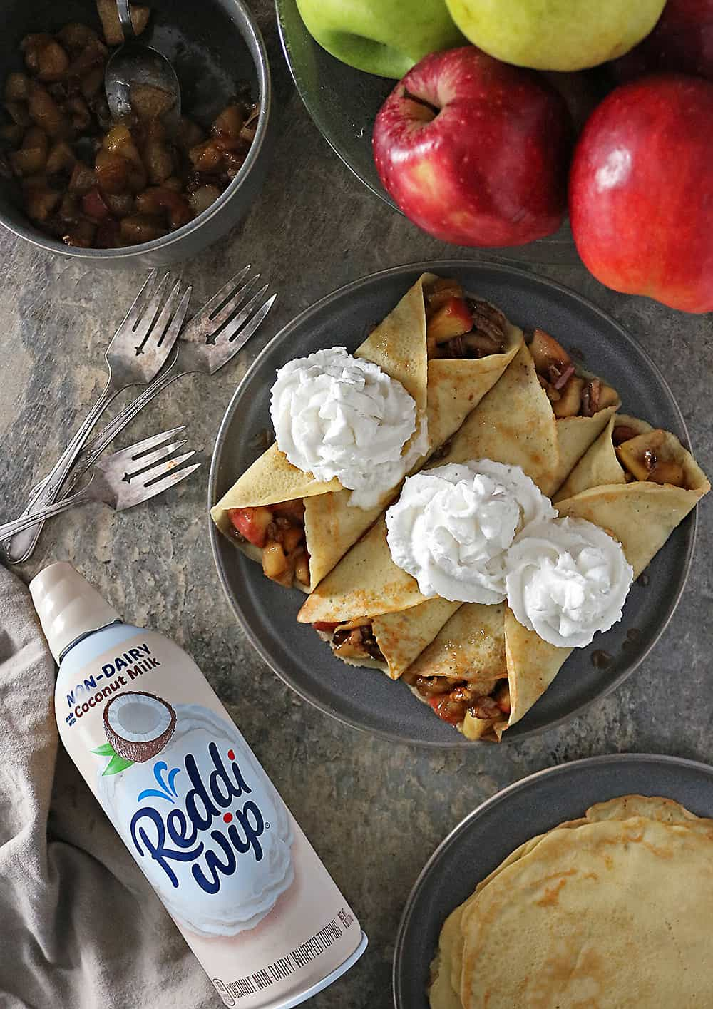 Ginger Cardamom Crepes with Apple Pear Filling Photo
