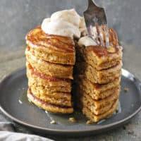 Pumpkin Greek Yogurt Pancakes