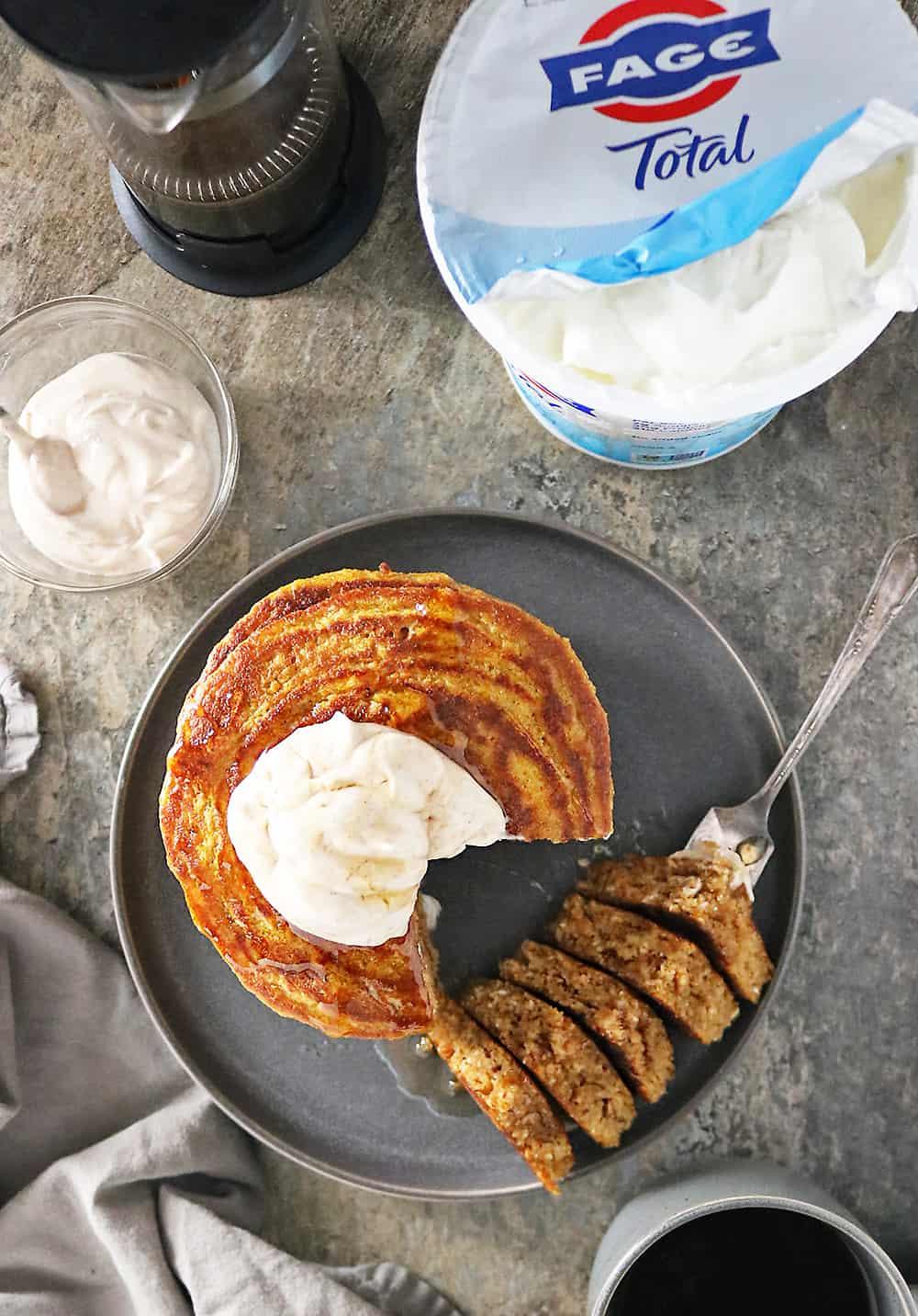 Gluten Free Pumpkin Yogurt Pancakes Pumpkin Spice Cream